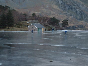Ice skating and Walking on Ogwen Lake