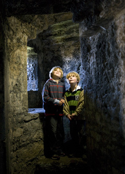 2 boys beaumaris castle.jpg