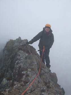 Crib Goch in challenging conditions